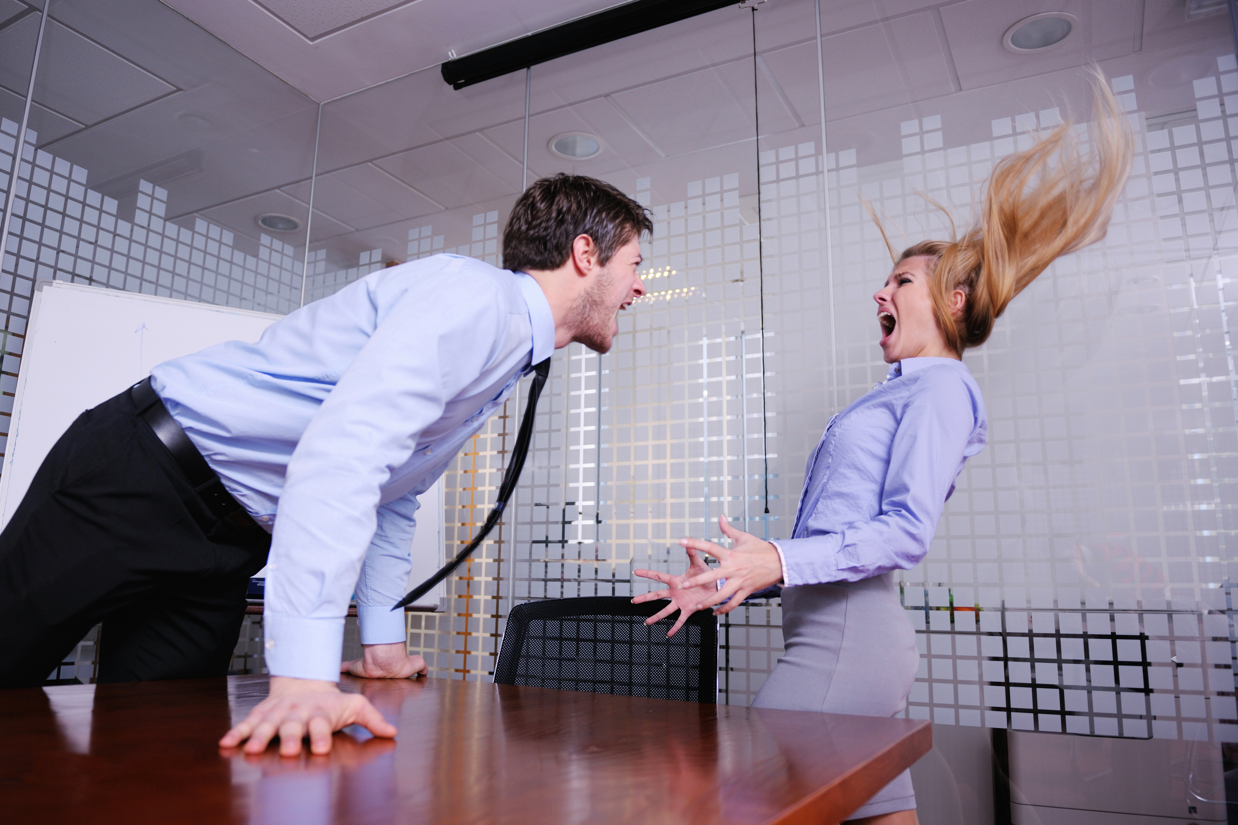 Наказание девушек в офисах #2